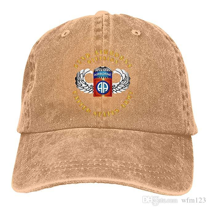 2019 New Cheap Baseball Caps Print Hat 82nd Airborne Division Mens Cotton  Adjustable Washed Twill Baseball Cap Hat Flat Cap Trucker Hats From Wfm123 c7fce173fac