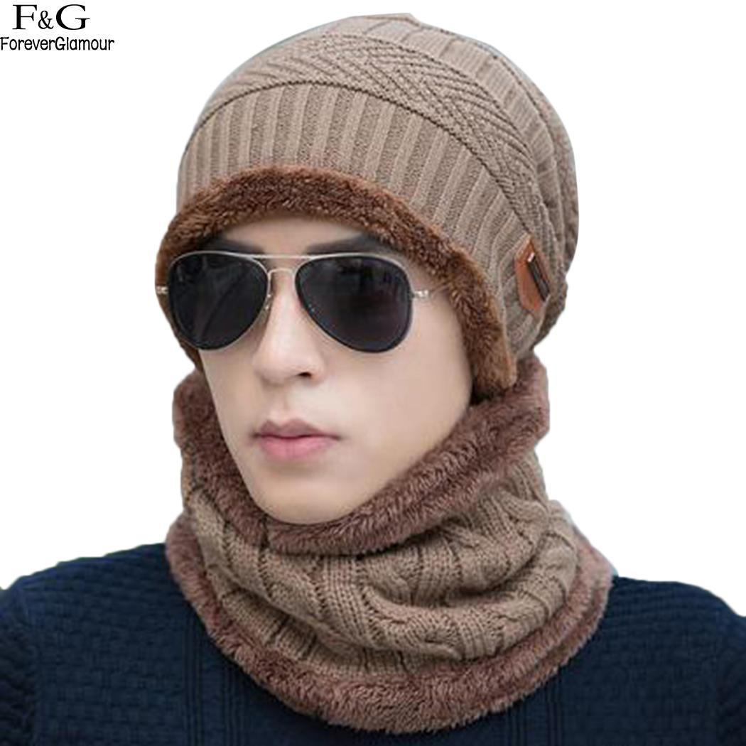 62e0388daa5 Neck Warmer Winter Hat Knit Cap Scarf Cap Winter Hats For Men ...