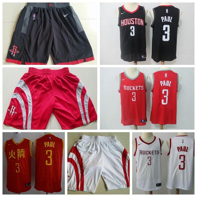2019 Mens 3 Chris Paul Houston Jerseys Rockets Basketball Jerseys Stitched  New City Edition Chris Paul Jerseys Rockets Basketball Shorts Groom Suits  Long ... 63efd5a69
