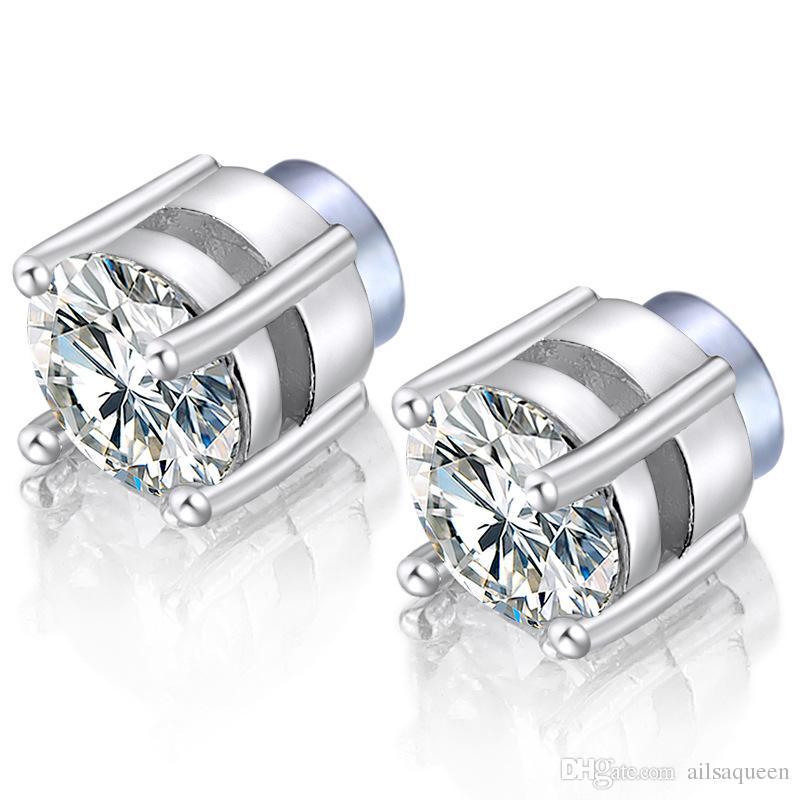 3f01becd5d6c Compre 5 Pares De Aretes Magnéticos De Acero Inoxidable Zircon Ear Jeweley Para  Hombres Mujeres Pendientes Hipoalergénicos Sin Perforaciones 6 Mm A  1.62  ...