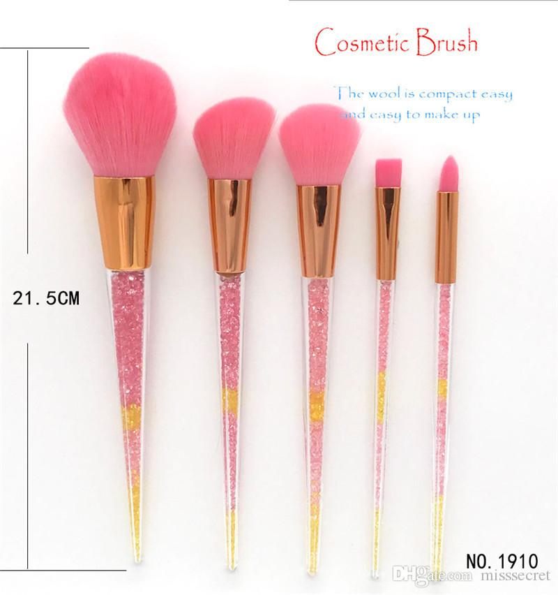 2019 Hot New Diamond Makeup Brushes Set Foundation Powder Eyeshadow Eyebrow Make Up Brush Double Color Handle Cosmetic Tools
