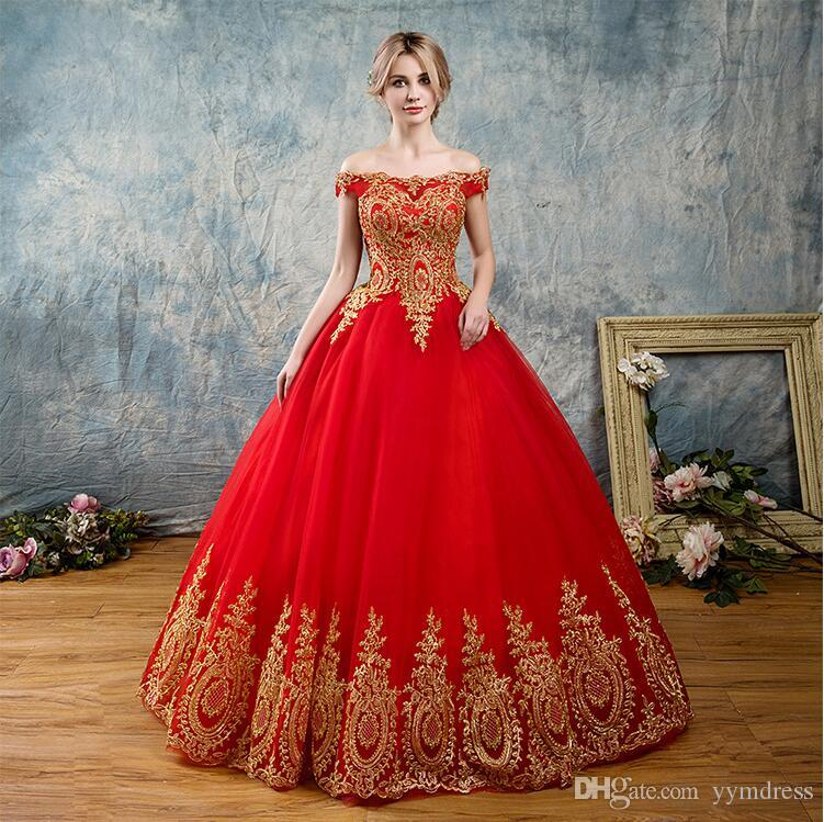 Red Quinceanera Dresses 2019 Modest Masquerade Off Shoulder Prom Dress Sweet 16 Girls Birthday Party Lace Up Full Length