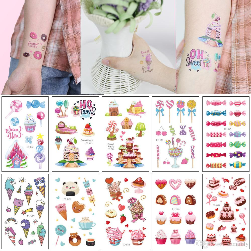 Cute Pink Temporary Tattoo For Kid Summer Sweetmeats Tiny Freshness ...