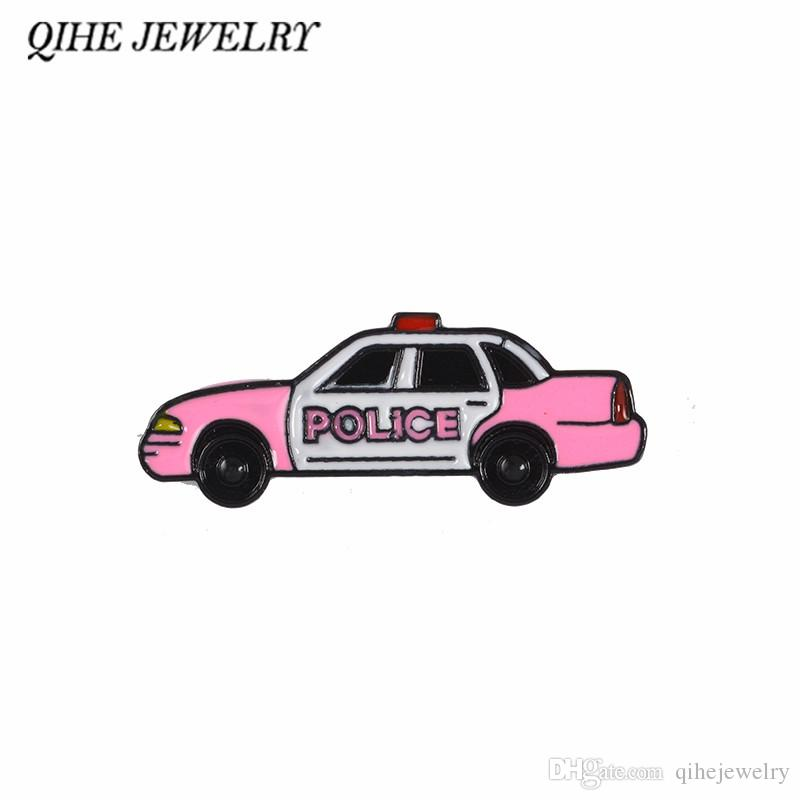 2019 QIHE JEWELRY Policeman Cop Sheriff Car Pins Enamel Pins Lapel Pins Badges Brooches For Men Women Gifts For Police Family From Qihejewelry, ...