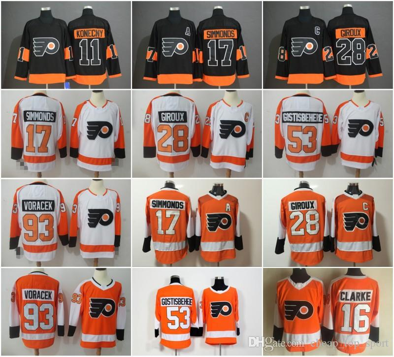 dffc244fe Philadelphia Flyers Jerseys Hockey 28 Claude Giroux Travis Konecny Shayne  Gostisbehere 17 Wayne Simmonds Voracek Ivan Provorov Eric Lindros Online  with ...