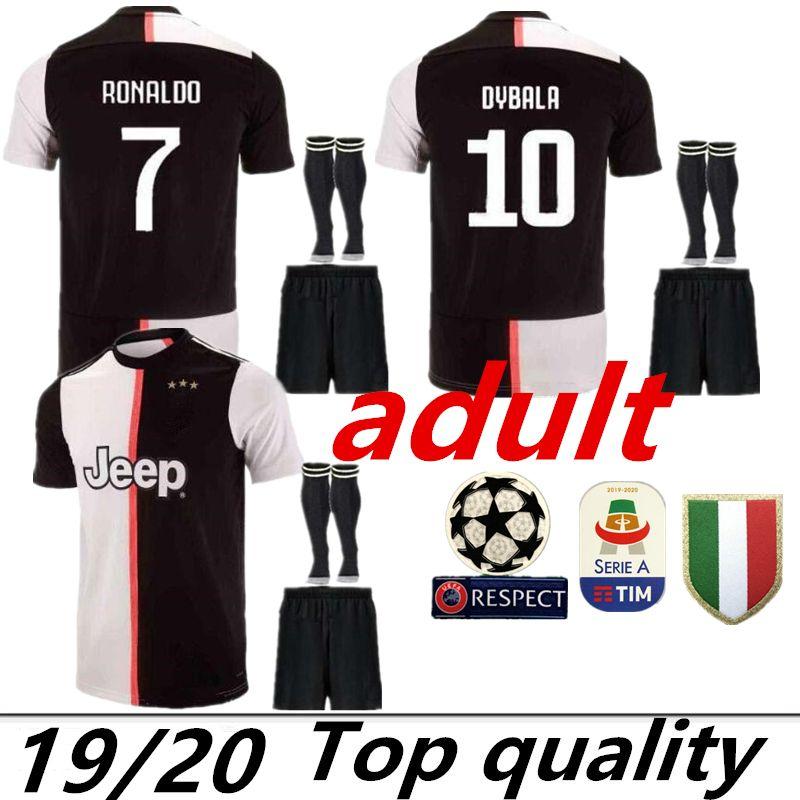new style 943a4 c2e8b ADUIT 19 20 Juventus 7 RONALDO 10 DYBALA Soccer Jersey kit juve 9 HIGUAIN  11 D. Costa 17 MANDZUKIC 1 BUFFON Football shirt