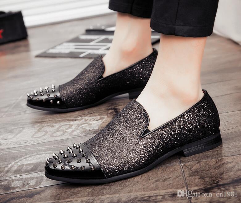 3d28a68a258 New Arrival Men Low Top Casual Comfort Rivets Shoes Fashion Forward ...