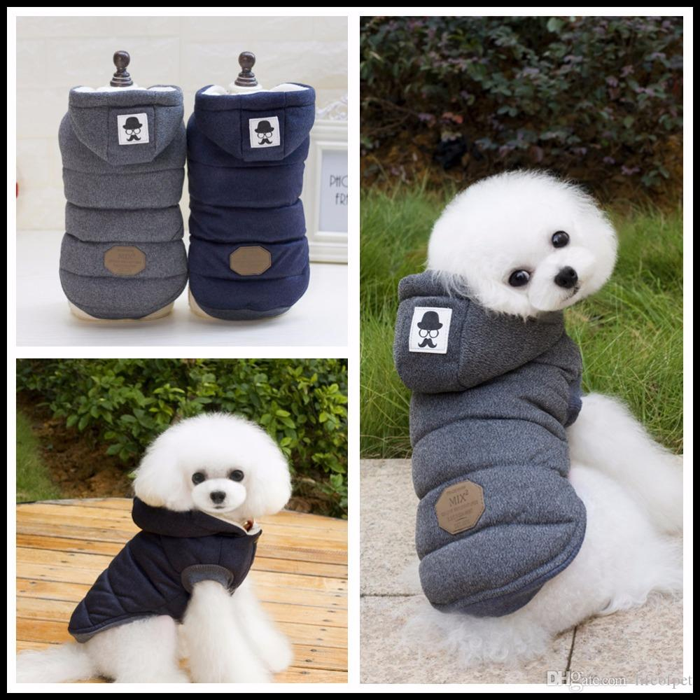 e6d3b4f549f1 2019 Two Feet Winter Dog Clothes Blue Grey Color S Xxl Size For Choice  Super Warm And Soft Cotton Padded Dog Winter Pet Dog Jacket From Lifeofpet,  ...