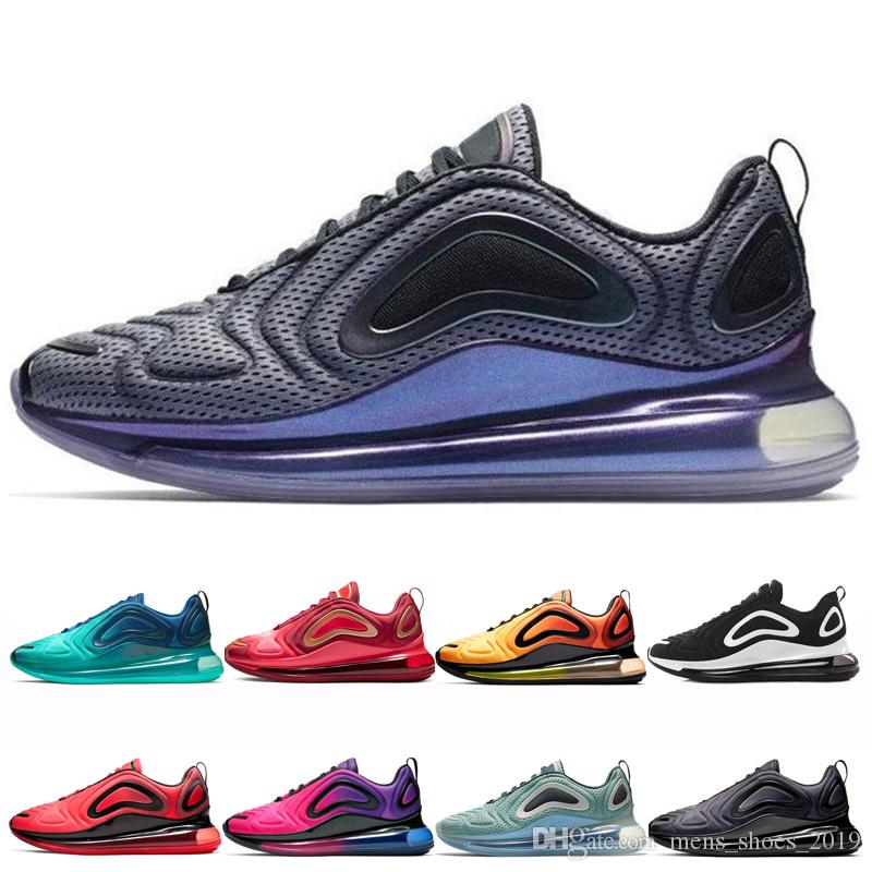 nike air max 720 shoes Top para hombre Northern Lights Zapatos para correr Mujeres Sunrise Sea Forest Triple Negro Gris carbono hombres mujeres