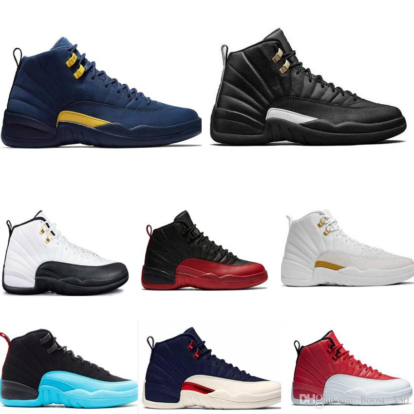 High Quality 12 12s OVO White Gym Red Master Basketball Shoes Men Women  Taxi Blue Suede Flu Game Olive Canvas Sneakers Shoes Jordans Sneakers On  Sale From ... 75ea655c37c5