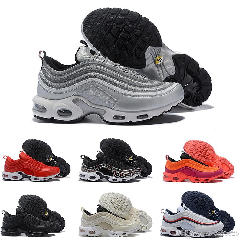 lowest price 2ab75 31eac 97 Plus TN Running Shoes For Mens Women 97S Tour Yellow Black White Brown  Racer Pink Red Trainers Sports Designer Men Sneakers