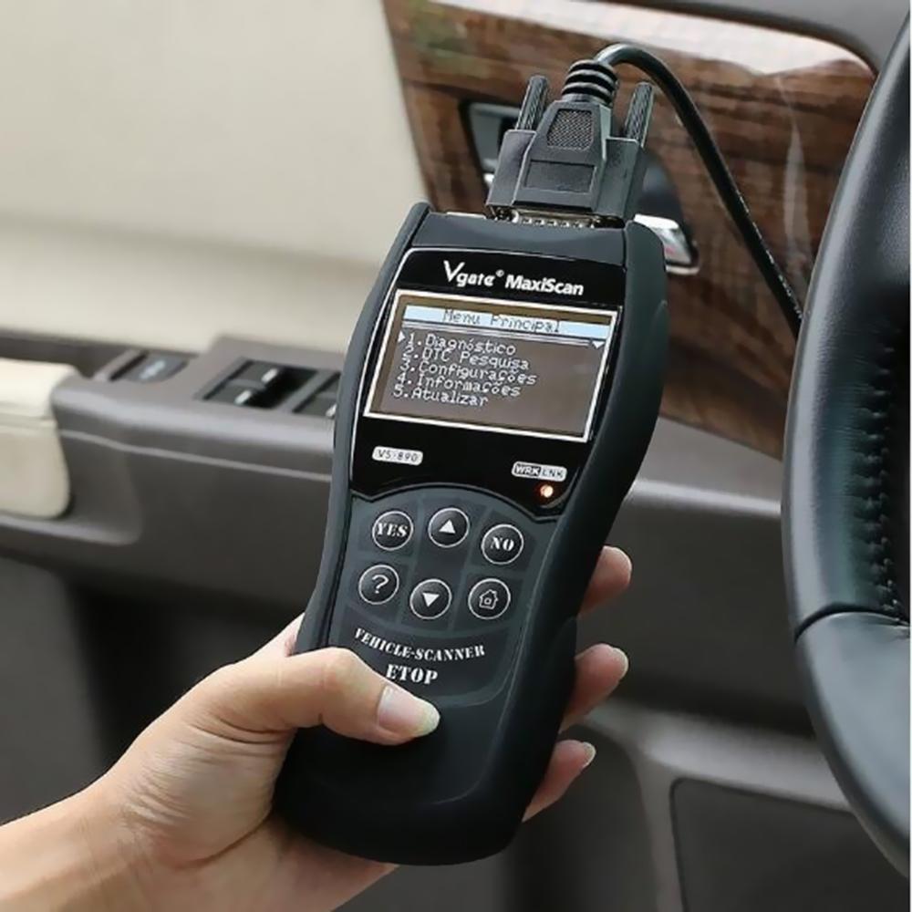 VS890 Car Diagnostic Tool Auto Scanner for launch x431 skoda volvo delphi  ds150e bmw e46 e90 ford focus 2 volkswagen