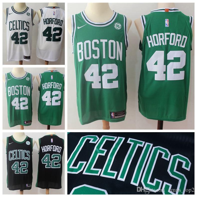 san francisco e589f 5b15f 2019 New Mens Celtics 42 Horford Jersey Boston Basketball Jerseys Stitched  2018 Horford City Jerseys Basketball Jerseys White Black Green