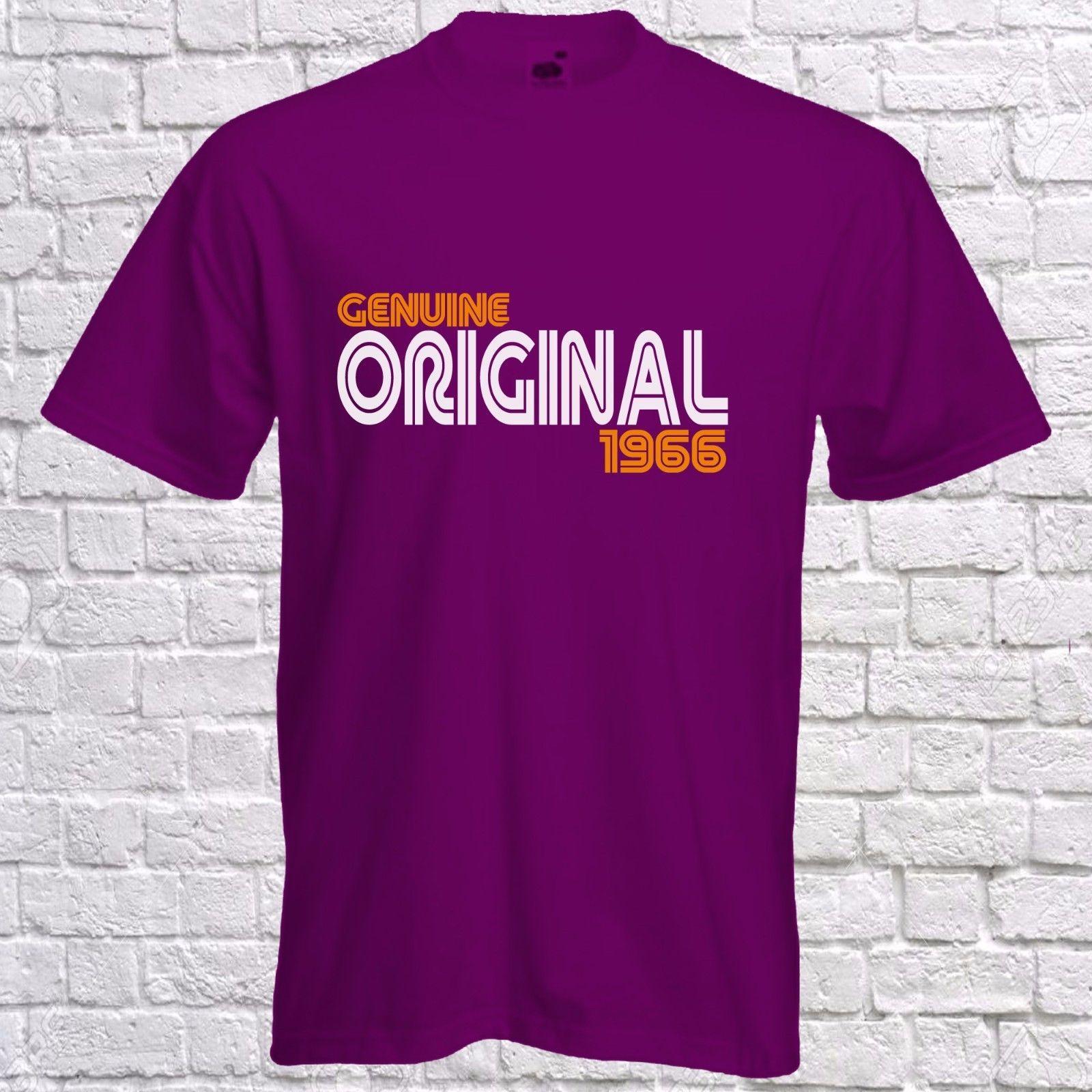 50th Birthday Tshirt Genuine Original Since 1966 T Mens Short Sleeved Tee Funny Unisex Top Shirt Cool Designs From Handdrawntees