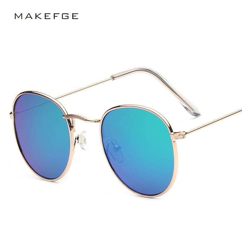 2019 Fashion High Quality Vintage Metal Frame Sunglasses Uomo Donna Retro Round rivestimento Occhiali da sole Trendy Ombra Designer di marca