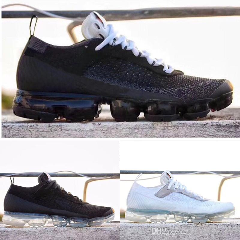 Nike Vapormax Off White TN Plus air max Vapors Fly 2.0 II Knit FK 2.0 Zapatos para hombre Off West VPM TN Plus Designer Ocio Zapatos Negro Blanco