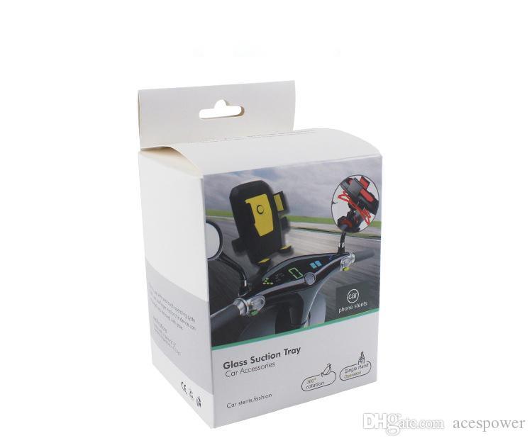 مزيج لون دراجة حامل دراجة القضية للهاتف المحمول السفر حامل التبعي العالمي دعم البلاستيك مع 360 درجة دوران للهاتف المحمول
