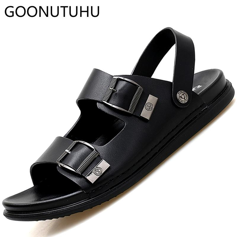 406eb333bd71 Men S Sandals 2019 New Fashion Summer Shoes Casual Brown Black Beach Sandal  Man Shoe Breathable Slippers Outdoor Sandals For Men Mens Sandals Reef  Sandals ...