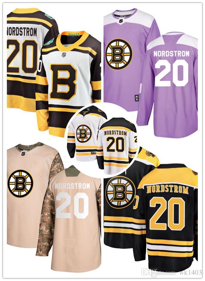 2019 Boston Bruins Jerseys  20 Joakim Nordstrom Jersey Hockey Team Men Women  White Black Drift Authentic Winter Classic Stiched CCM Jersey From Wk1403 f20954169