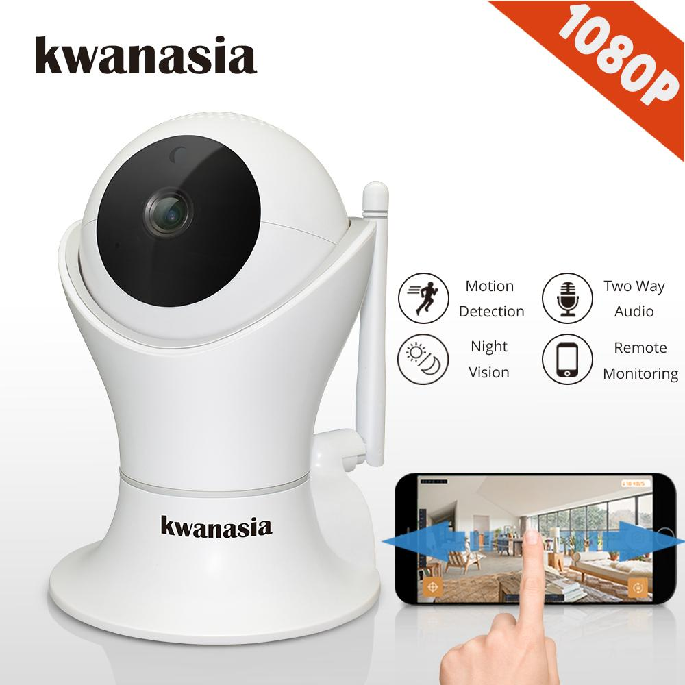 Reasonable 1080p Hd Network Camera Two-way Audio Wireless Network Camera Night Vision Motion Detection Camera Robot Pet Baby Monitor Comfortable Feel Video Surveillance