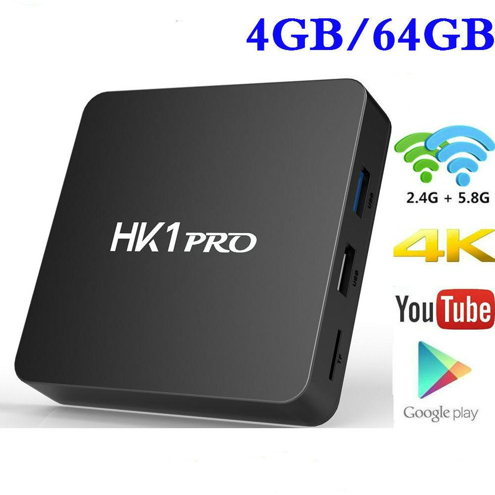 tv box android 8.1 4gb 64 gb ddr4  DDR4 4GB 64GB Smart 4K TV BOX Android 8.1 HK1 PRO Amlogic S905X2 ...