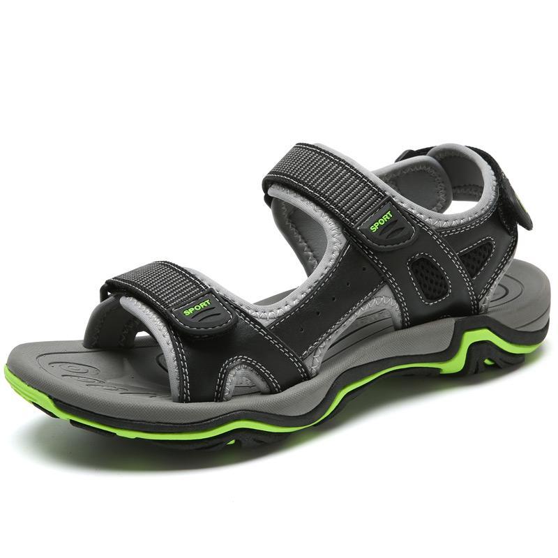 9ef8dc98 Compre Nuevas Sandalias De Cuero De Verano Zapatos De Playa Para Hombres  Calzado Casual Deportes Al Aire Libre Enfriamiento Marea Antideslizante A  $69.83 ...