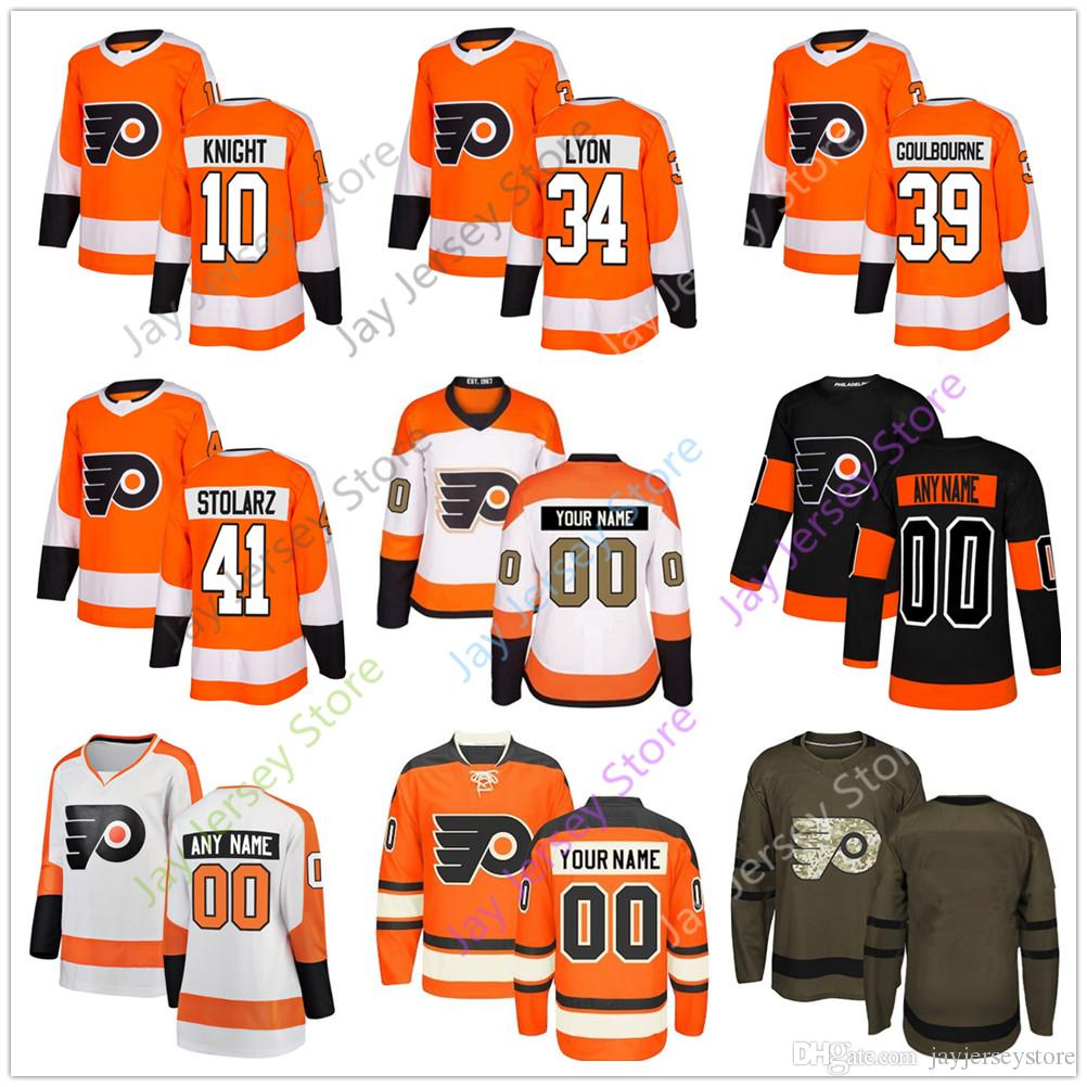 super popular 7c3fa 8ab4d Corban Knight Cam Talbot Alex Lyon Tyrell Goulbourne Anthony Stolarz Jersey  2019 Men Women Youth Kid Philadelphia Flyers Winter Classic C A