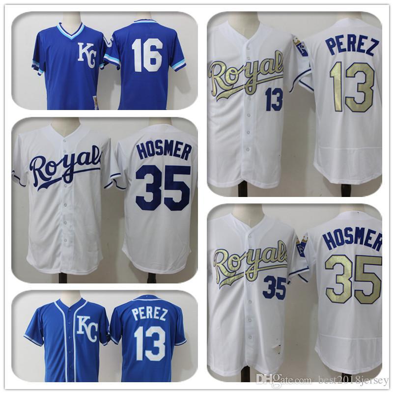 5990fe0b8 13 Salvador Perez Jersey Kansas City Royals 35 Eric Hosmer Jersey 16 ...