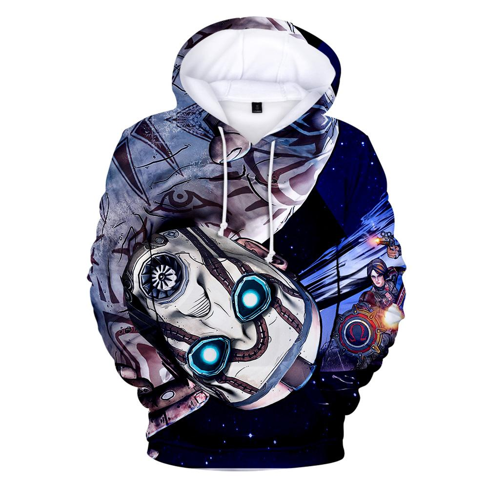 Shooting games Printing 3D Borderlands 3 Hoodies Men Women Hip Hop Sweatshirts Autumn 3D Hoodies Borderlands 3 Hoody Mens