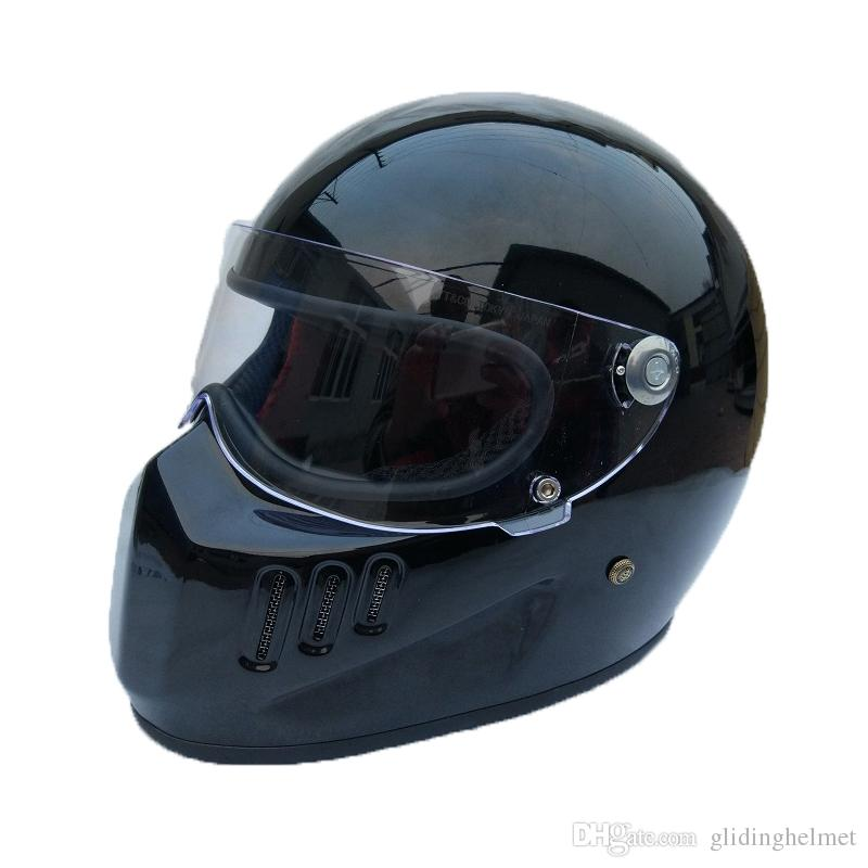 Full Face Cruiser Helmets >> Motorcycle Full Face Helmet Cruiser Fiberglass Helmet With Shield For Vintage Cafe Racer Casco Retro Bike Helmet Cool