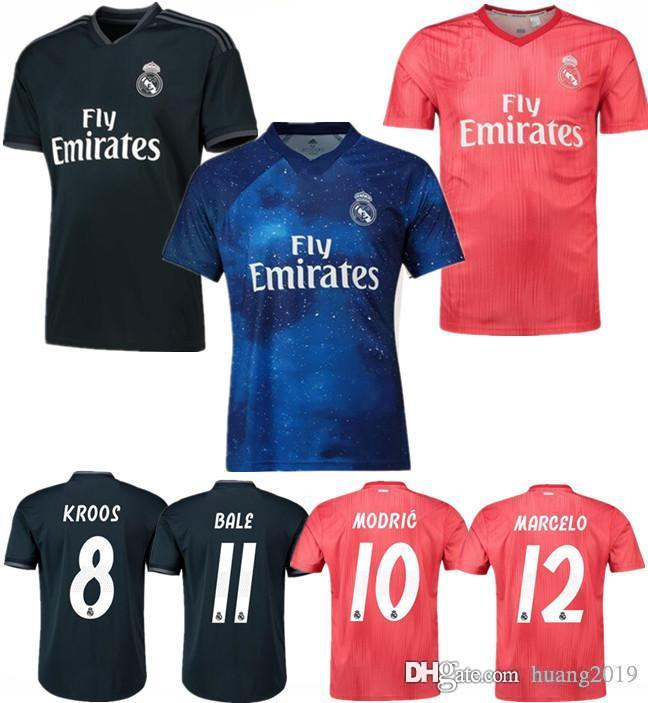 timeless design 2ba7d 3c88b Real Madrid 18-19 second away suit jersey MARIANO 7 KROOS BENZEMA Football  shirt MODRIC 10 MARCELO ASENSIO 20 Isco 3RD 2019 Sports Jerseys