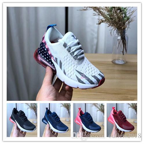 Infantil nuevo 270 niños zapatos para correr negro blanco polvoriento Cactus 27c niño exterior niño atlético niña niños zapatilla de deporte size25 38