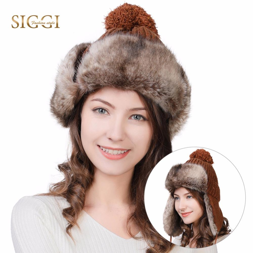 4730768870b FANCET Winter Faux Fur Bomber Hats For Women Earflaps Wool Knitted Outdoor  Ski Snow Cold Weather Warm Trapper Hat Unshanka 99725 UK 2019 From Juemin