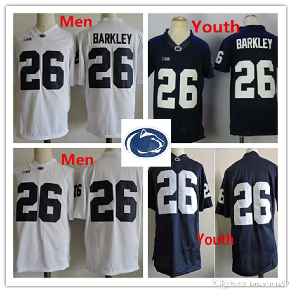 newest faed7 d85ec 26 Saquon Barkley Penn State Nittany Lions Men Youth Navy Blue High Quality  Stitched NCAA College Jersey