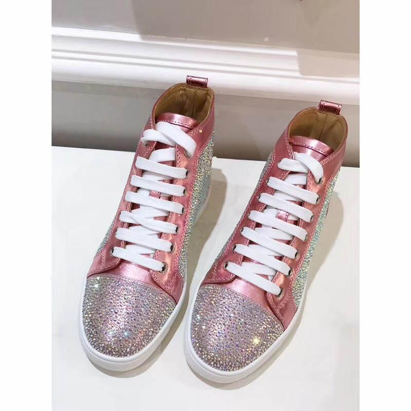 2018 Early spring new style The latest high-top Fashion shoes Silver leisure women shoes Rhinestone shoes