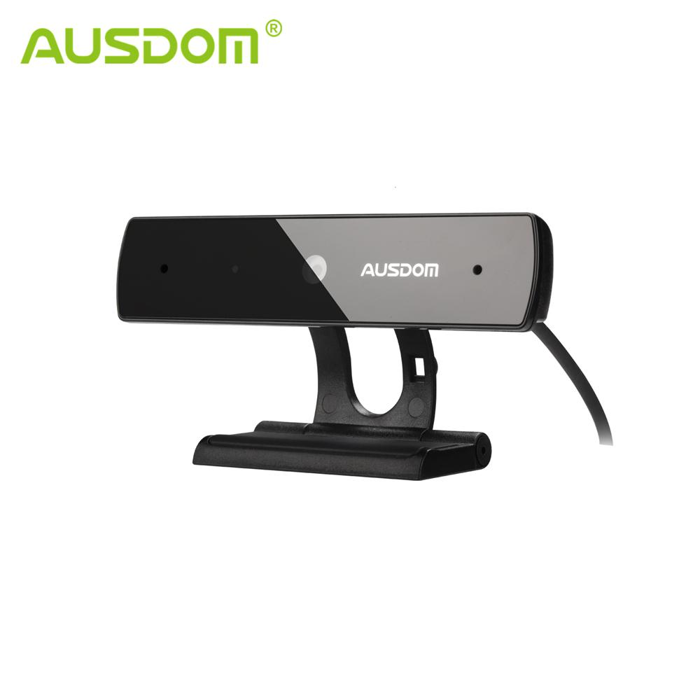 Ausdom AW625 1080P HD Video Webcam USB Plug and Play Web Camera with Built-in Mic Web Cam Video Chatting for Skype Facetime