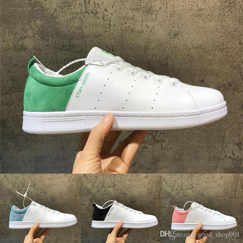the latest 89dc9 59704 New stan smith J shoes fashion HIgh quality women men smith sneakers Casual  shoes leather sport classic flats