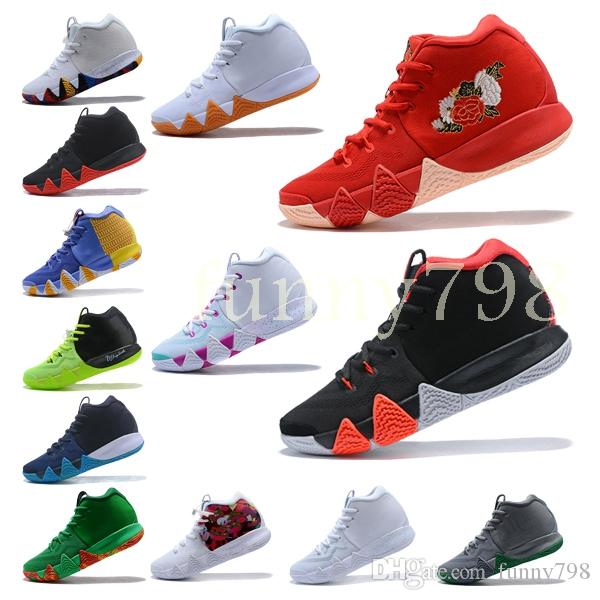 b3c9a88c1fdd 2019 High Quality Designer Fashion Shoes Kyrie Irving 4 Neon Blends  Chaussures Men 4s Wolf Grey Team Red Sports Basketball Shoes Sneakers Shoes  Shoes For ...