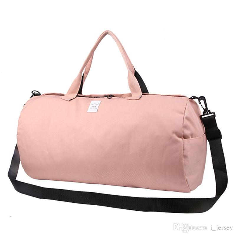 26524b649 2019 Canvas Shoulder Sports Gym Bag For Women Fitness Yoga Training Bags  Candy Color Travel Handbags Sac De Sport Small Big XA514WA #42763 From  I_jersey, ...