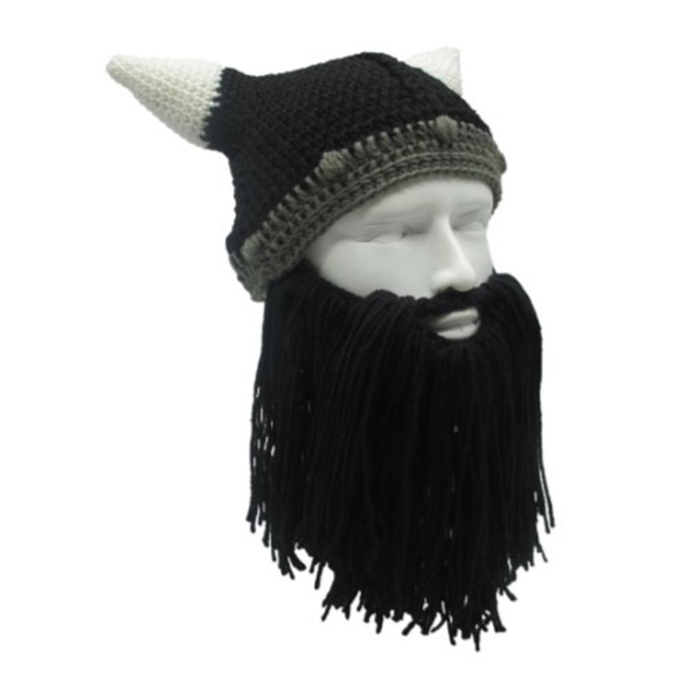 Compre Unisex Popualr Hat Head Barbarian Vagabond Viking Barba Gorros  Cuerno Sombreros Hecho A Mano De Punto De Invierno Cálido Fiesta De  Vacaciones Cosplay ... 07876ea75bd