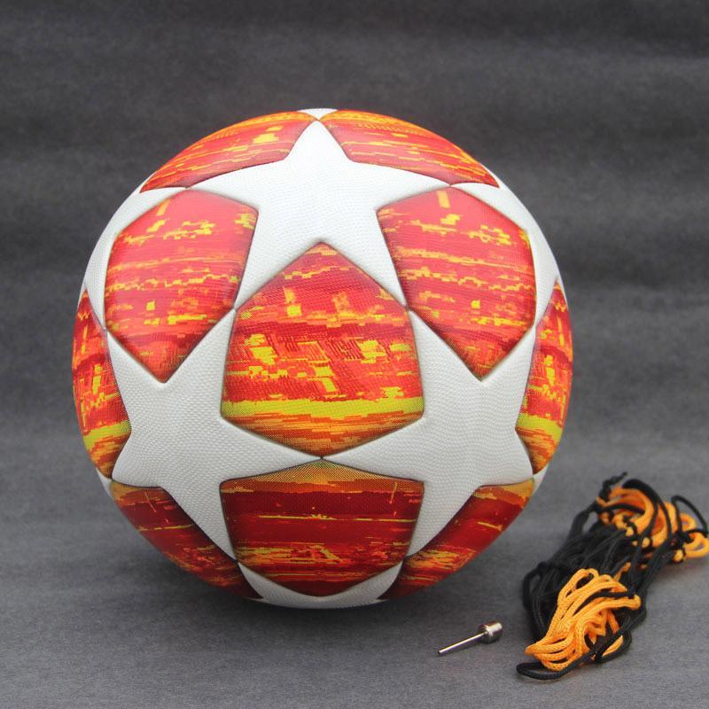 New Madrid 19 Final Balls Red Champions League Soccer Ball Blue Match  football ball PU high grade seamless paste skin