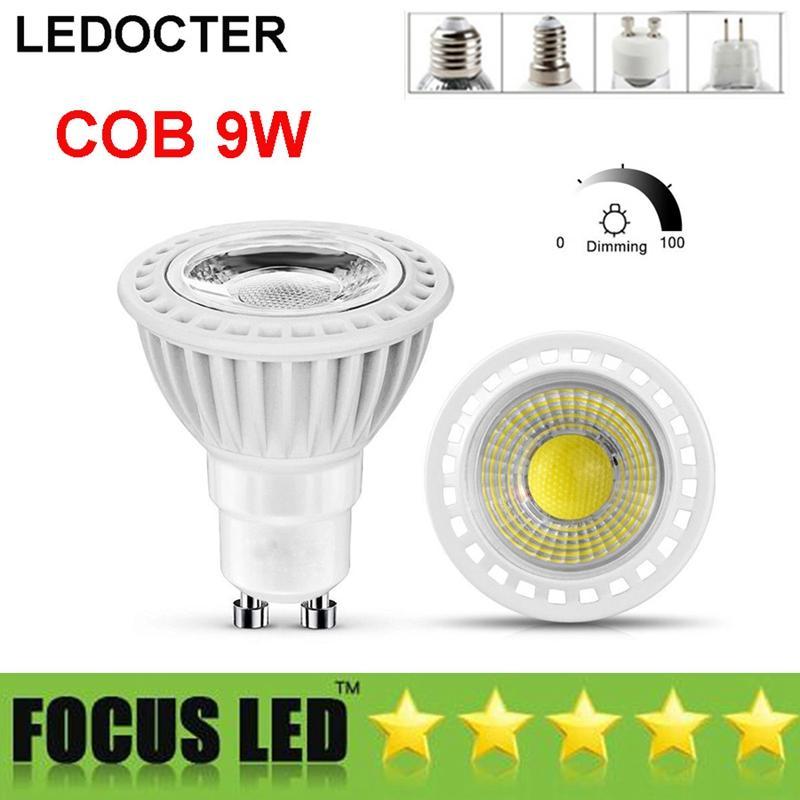 d21a0ef96 NEW 9W COB Led Bulbs Dimmable Led Spot Light 110 240V  DC12V Spotlight  Downlight Bombilla Shop Display Lights Lamps GU10 MR16 E27 E14 GU5.3  Outdoor Led ...