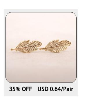Jisensp Boho Fashion Leaf Pendientes Ear Crawlers Joyería del partido Nupcial Hojas Rama Ear Climber Stud Pendientes para las mujeres Bijoux