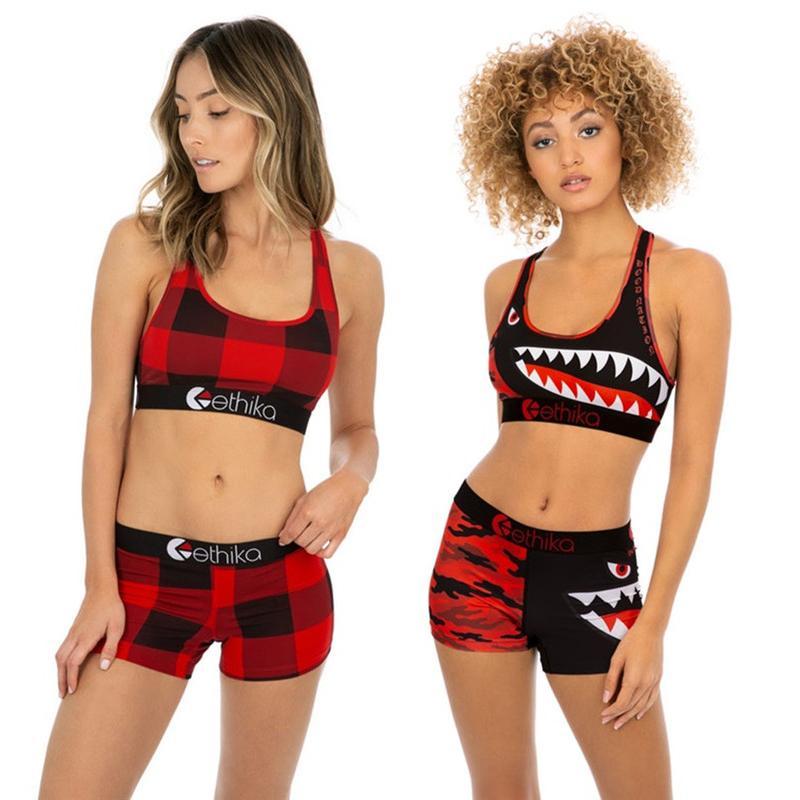 0a7c9d140a Ethika Swimsuit Swimwear for Women Maillots De Bain Pour Femmes Costumi Da  Bagno Shark Plaid Bikini Bathing Suits Bra Shorts Set New A3212 Swim Beach  Wear ...