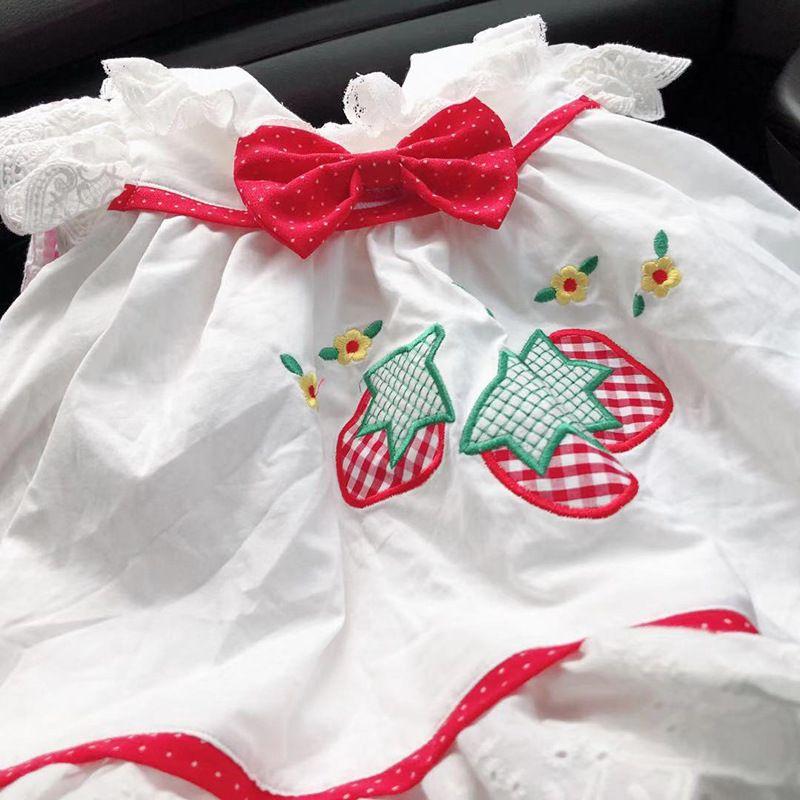 514e6ebb3 Compre Crianças Menina Roupas De Grife Vestido Espanha Estilo Verão Flor  Bordado Xadrez Design De Impressão Lolita Vestido De Princesa Menina Roupas  Vestido ...