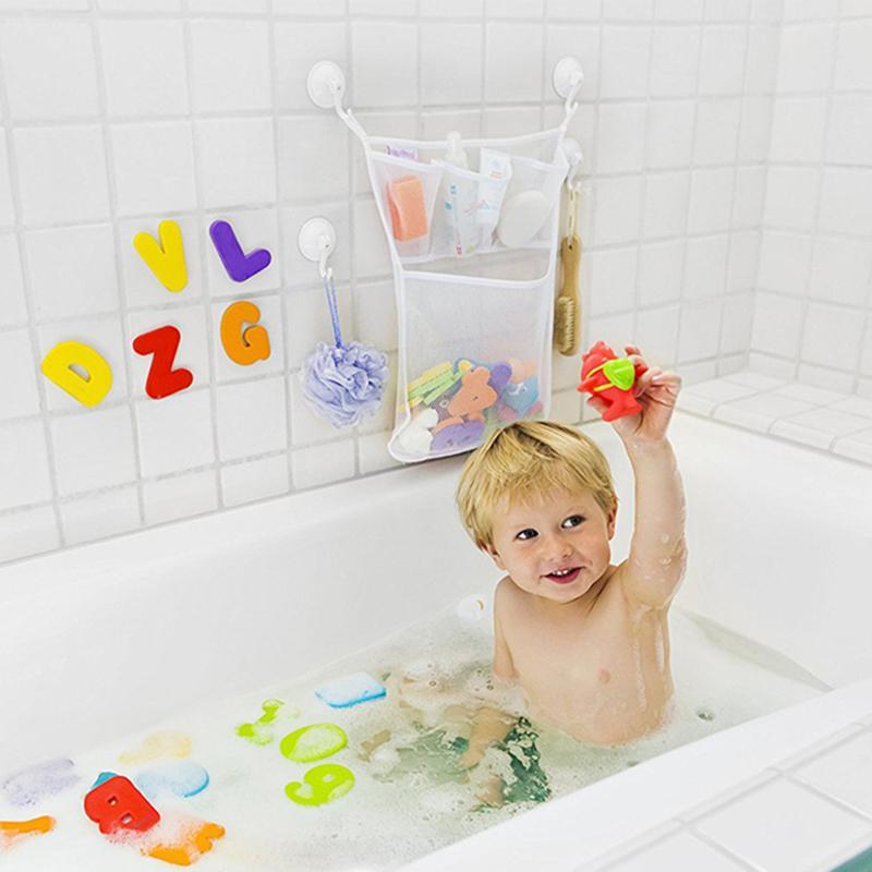 UK Baby Bath Toy Tidy Storage Net Suction Cup Bag Mesh Shower Bathroom Organiser Baby