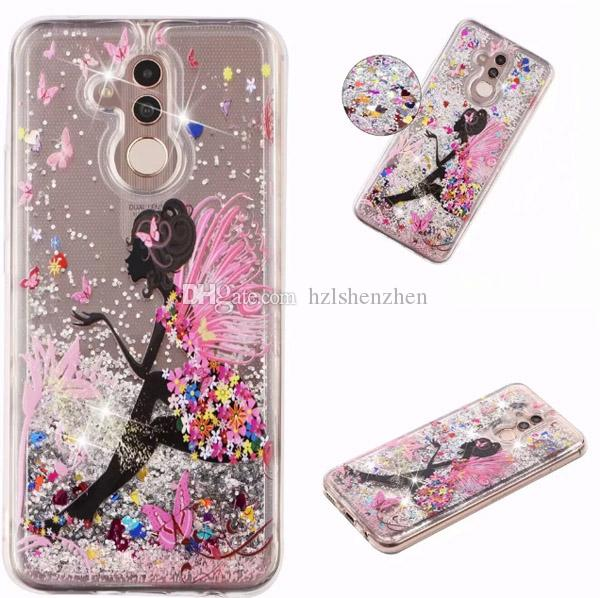 Quicksand Shinning Girls Cartoon butterfly heavy duty 2 in 1 case cover for Huawei Y9 2019 P20 Lite2019 Nova 5i P Smart Z