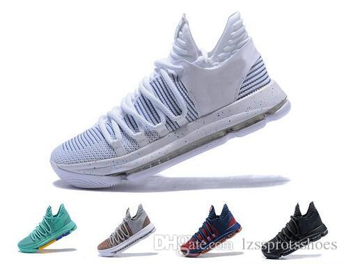 new product 220c1 c32ba 2019 2018 Correct Version Kd 10 EP Men Basketball Shoes Kevin Durant X Kds  10s Rainbow Wolf Grey KD10 FMVP Sports Sneakers US 7 12 From  Lzssprotsshoes, ...