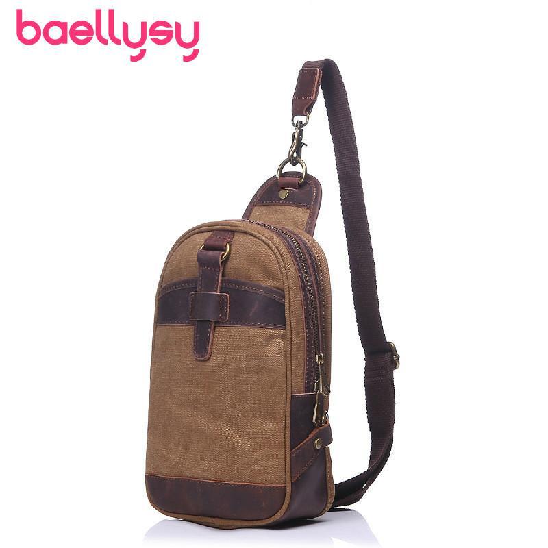04947c24d0 Fashion Vintage Canvas Men Chest Bag Male Shoulder Bags Outdoor Zipper  Pouch Messenger Men Waist Bag Waist Pack Travel Pack