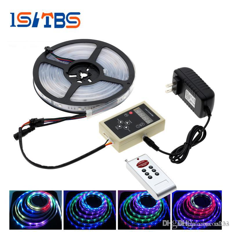 6803 IC Magic Dream Color RGB LED Strip 5050 30LED / m Chasing Lights + 133 Program RF Magic Controller + Power Adapter